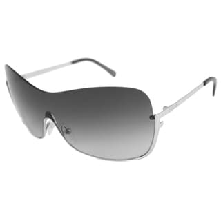 Fendi Women's FS5209 Silver/Gray Gradient Shield Sunglasses