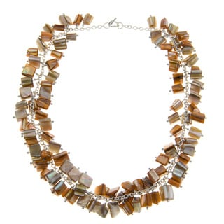 Mother Of Pearl Cluster Necklace