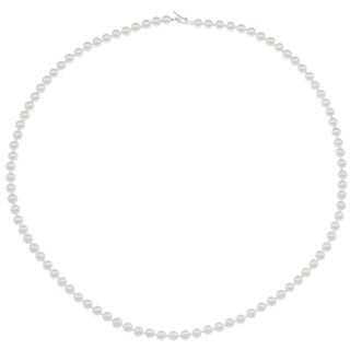 White Faux Pearl Necklace