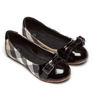 Burberry Girl's Beige Check Slip-on Flats