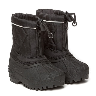 Burberry Toddler Black/ House Check Snow Boots