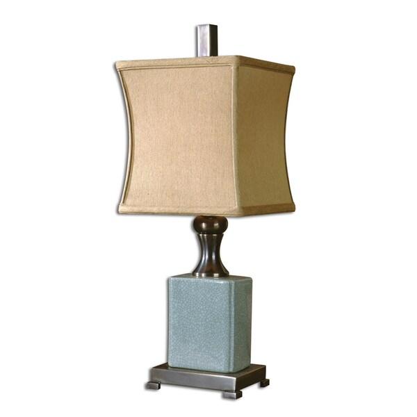 Uttermost Bernadette Crackled Blue Buffet Lamp