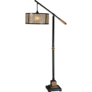 Sitka 1-light Aged Black Lantern Floor Lamp