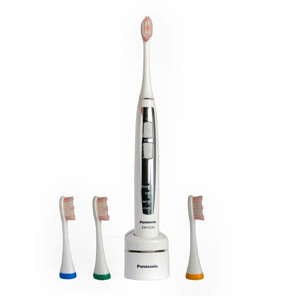 Panasonic Sonic Vibration Rechargeable Toothbrush with Four Brush Heads