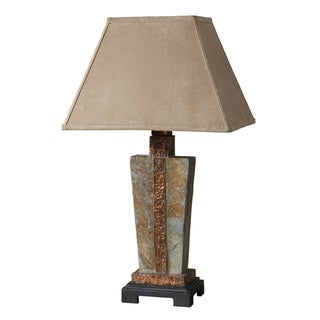 1-light Slate and Copper Accent Lamp