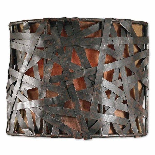 Uttermost Alita 1-light Aged Black Wall Sconce