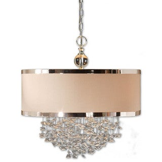 Uttermost Fascination 3-light Off-White Drum Pendant