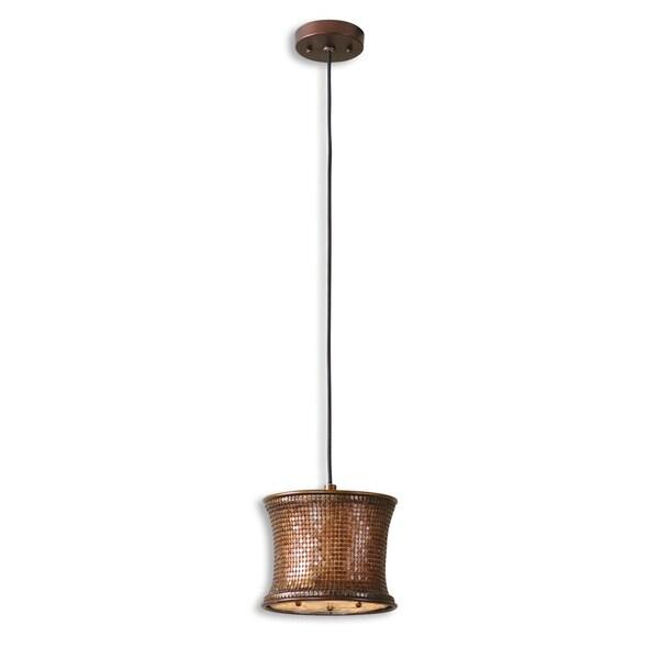 uttermost marcel 1 light copper mini drum pendant