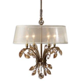 Alenya 4-light Burnished Gold Metal Chandelier