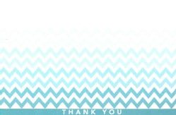 Chevron Thank You Notes (Cards)