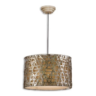 Uttermost Alita 3-light Champagne Metal Drum Pendant