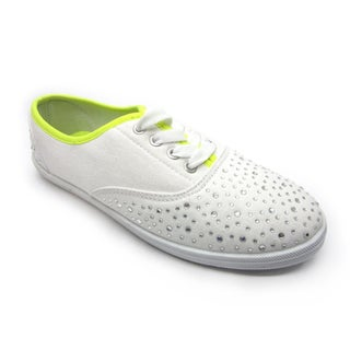 Blue Women's 'Riley' Studded Flat Canvas Shoes