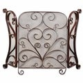 Daymeion Distress Cocoa Brown Fireplace Screen