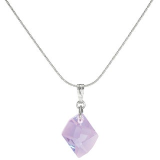 Jewelry by Dawn Small Violet Cosmic Crystal Sterling Silver Necklace