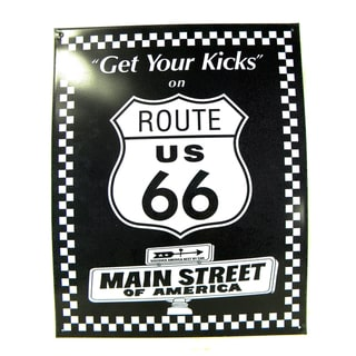 Vintage Style 'Get Your Kicks on Route 66' Metal Sign