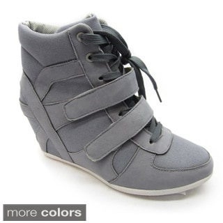 Blue Women&#39;s &#39;Topper-2&#39; Wedge Sneaker Booties