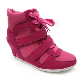 Blue Women's 'Topper-2' Fuchsia Wedge Sneaker Booties