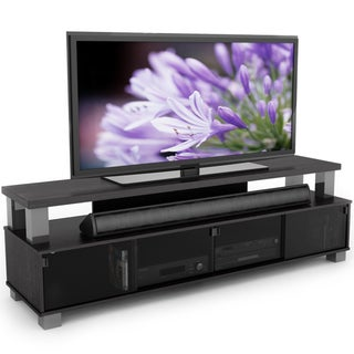 Sonax Bromley Ravenwood Black 75-inch 2-tier TV Bench