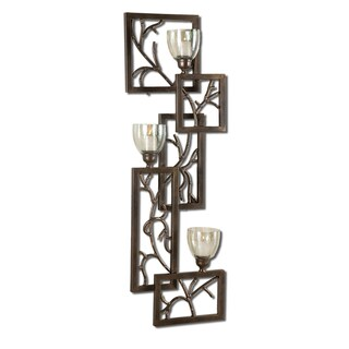 Iron Branches Dark Bronze Wall Sconce
