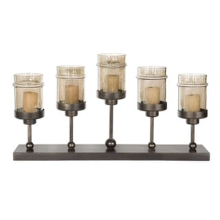 Lamya Antiqued Bronze Candelabra