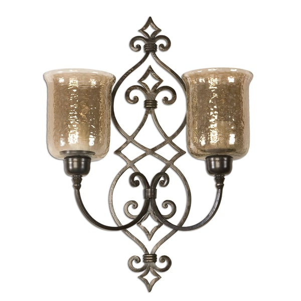 Uttermost Sorel Antiqued Bronze Double Wall Sconce