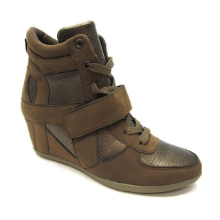 Blue Women's 'Ryker' Brown/Bronze Wedge Sneakers