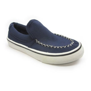 Blue Children's 'I-Brian' Navy Canvas Slip-On Sneakers