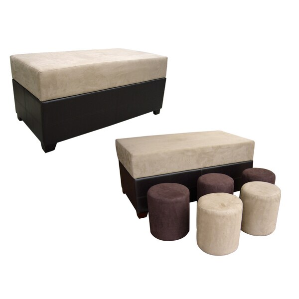 Storage Bench (with 5 Ottomans)
