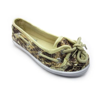 Blue Children's 'K-Boaty' Sequined Print Slip-on Shoes