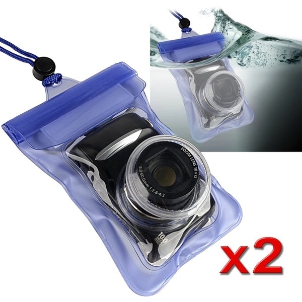 INSTEN Blue Waterproof Camera Phone Case Cover