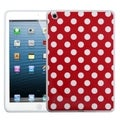 MYBAT White Polka Dots/ Red Candy Skin Cover for Apple iPad Mini