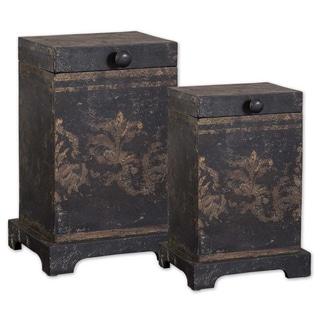 Melani Wood Decorative Boxes (Set of 2)