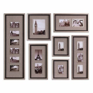 Massena Matte Black Photo Frame Collage, S/7
