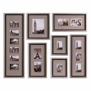 Uttermost Massena Matte Black Photo Frame Collage, S/7
