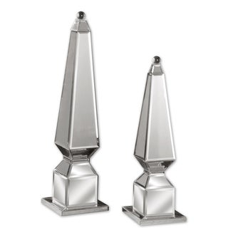 Uttermost Alanna Mirrored Finials (Set of 2)