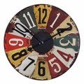 Uttermost Rustic Bronze Vintage License Plates 29-inch Wall Clock