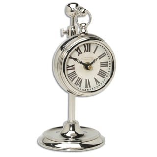 Pocket Watch Nickel Plated Brass Marchant Clock