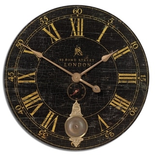 Bond Street 30-inch Black Wall Clock