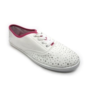 Women's White Platform Canvas Low Cut Sneakers Shoes Ladies Trainers. $31.99 $43.99