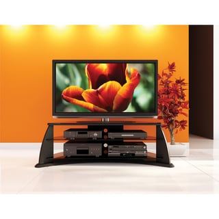 Sonax Florence 51-inch Midnight Black TV Stand with Glass Shelves