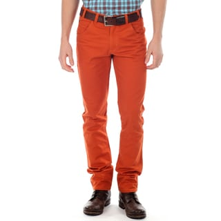 191 Unlimited Men&#39;s Orange Straight Leg Pants