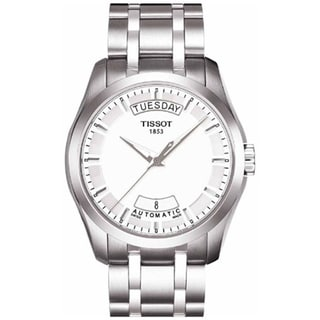 Tissot Men's T035.407.11.031.00 Couturier Stainless Steel White Dial Automatic Watch