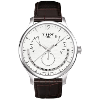 Tissot Men's Brown Leather Silver Dial Swiss Quartz Watch