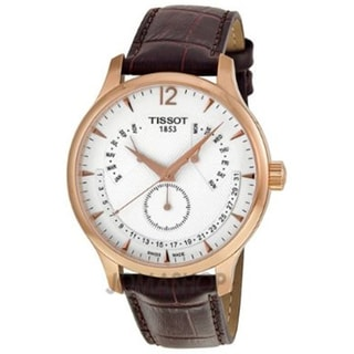 Tissot Men's Brown Leather White Dial Swiss Quartz Watch