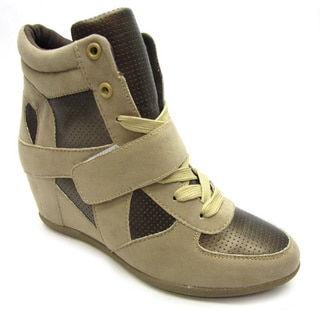 Blue Women's 'Ryker' Camel/Bronze Wedge Sneakers