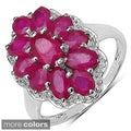Sterling Silver Ruby, Smokey Topaz, Blue Topaz or Tanzanite Ring
