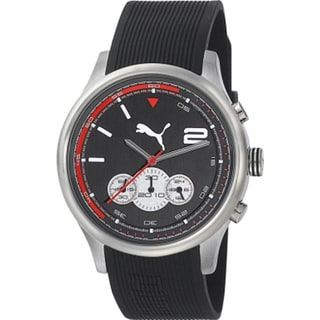Puma Men's Black Rubber Quartz Watch