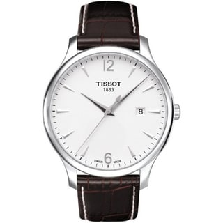 Tissot Men's Brown Leather Swiss Quartz Watch