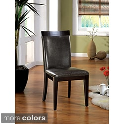 Furniture of America Brennan Two-Tone Contemporary Dining Chairs (Set of 2)