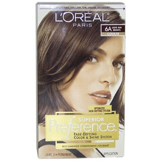 L'Oreal Superior Preference Permanent #6A Light Ash Brown Hair Color
